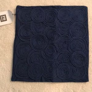 Pottery Barn navy blue pillow cover 15x16